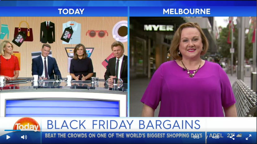 All about shopping Black Friday with Jo Munro TODAY